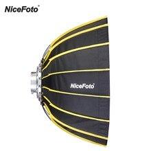NiceFoto 60 Cm Di Động Nhanh Lắp Đặt Lục Giác Softbox + Máy Khuếch Tán Vải Lưới Dây Dù Mềm Mại Hộp Cho Phòng Thu Sáng