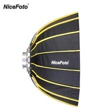 Портативный шестигранный софтбокс NiceFoto для быстрой установки 60 см + тканевый зонт в полоску, софтбокс для студийного освещения
