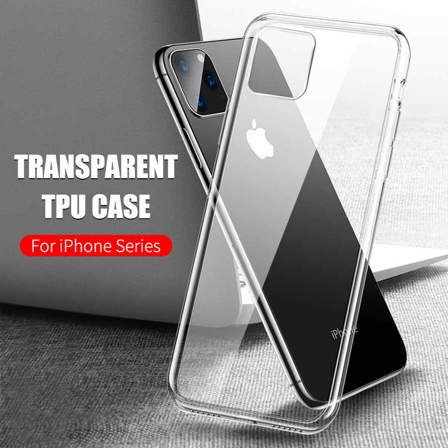 TPU Cover Cases For iPhone 11 Pro Max 2019 Durable Protective Phone Case Coque Shell For iPhone 11 Pro X 8 6 6s 7 Plus SE