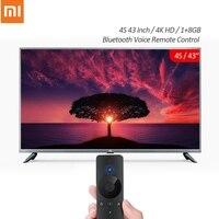 شياو mi mi تلفاز ذكي 4K عالي الدقة 4s 43 بوصة 1 + 8GB أندرويد التلفزيون الذكي دعم بلوتوث صوت التحكم عن بعد التلفزيون النسخة الصينية