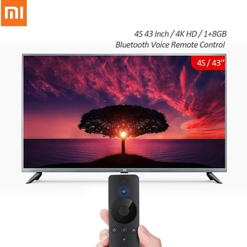 Xiaomi TV Mi Smart TV 4K HD 4S 43 Inch 1+8GB Android Smart TV Support bluetooth Voice Remote Control Television Chinese Version