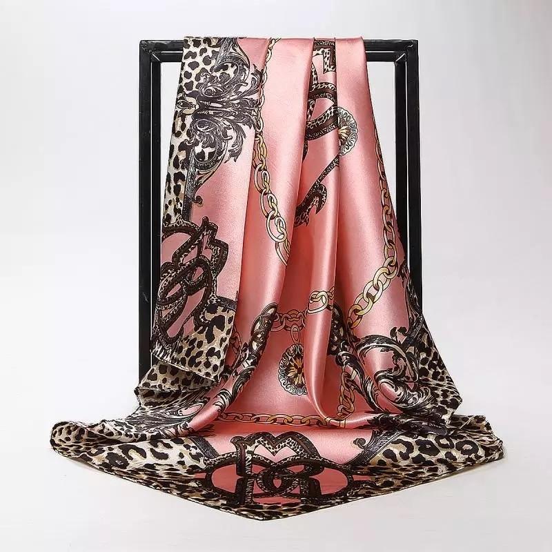 Free Shipping Silk Scarves Women Foulard 90*90cm Square Head Hijab Scarf Ladies Chiffon Shawl Bandanna Female Wrap Muffler Pareo