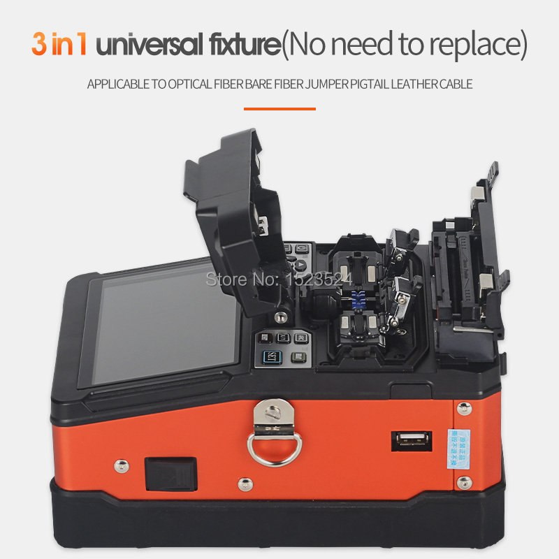 A-81S Orange Fully Automatic Fusion Splicer Machine Fiber Optic Fusion Splicer Fiber Optic Splicing Machine