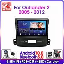 "9 ""2 Din Android 10.0 Auto Radio Voor Mitsubishi Outlander Xl 2 CW0W 2005 2012 Navigatie Gps Multimedia video Speler 4G + 64G Rds"