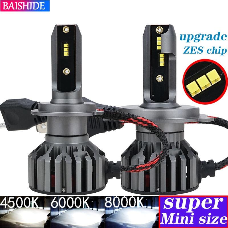 BAISHIDE H4 LED H7 ZES Car Headlights H1 H3  H9 H11 9005 HB3 9006 HB4 9012  6000K 4500K 60W 8000LM Auto Fog Light 12V LED Lamp