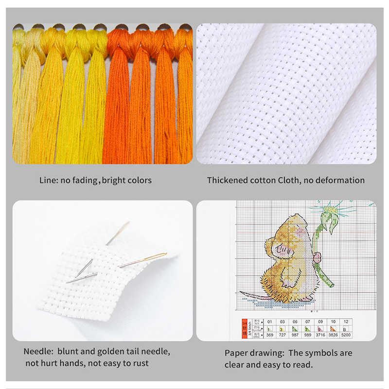 Набор для вышивки крестиком, фиолетовый, романтичный пейзаж, счетный 11 14CT, наборы для вышивки крестом, домашний декор, сделай сам, рукоделие