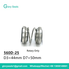 560D-25/ED560-25mm , 560D-25S/ ED560-25S Burgmann Double Face Mechanical Seals Dual seal Rotary Only Material: CAR/SIC