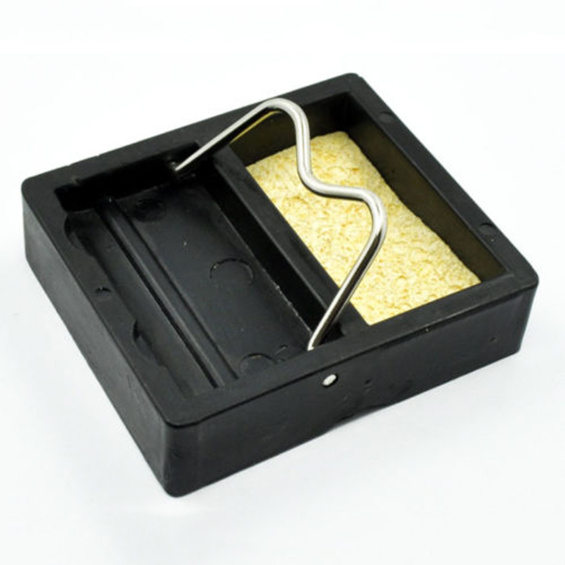 Electric Metal Base Soldering Iron Gun Holder Support Station With Sponge Set