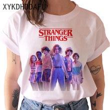 Футболка Stranger Things Season 3 для мужчин и женщин, одиннадцать футболок с перевернутыми ногами, Мужская футболка с графикой, топы, футболки, забавн...
