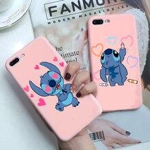 Fashion cute cartoon Stitch Soft TPU Case For iPhon