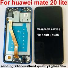 Oryginalny dla 6 3 Huawei Mate 20 Lite mate 20 lite ekran wyświetlacz LCD + digitizer panel dotykowy dla mate 20 lite + rama tanie tanio GRF WENO for huawei SNE-LX1 SNE-L21 SNE-LX3 SNE-LX2 SNE-L23 LCD i ekran dotykowy Digitizer Pojemnościowy ekran Nowy