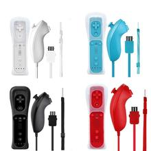 Eastvita For Vii Gamepads Wireless Remote Controller + Nunchuck with Silicone Case Accessories for Nintend Wii Game Console