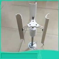 Eixo vertical turbina eólica modelo trifásico ímã permanente gerador diy demonstração de moinho de vento brinquedo luzes da noite