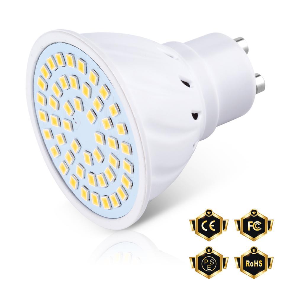 Wenni lâmpada led e27 10 peças, holofote gu10 mr16 gu5.3 220v lampada e14 48 60 80leds iluminação interna b22