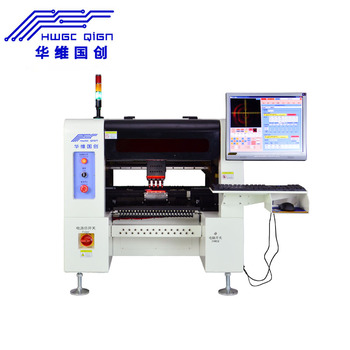 Best Seller 4 Heads HW-T4SG-50F Led Production SMT Machine screw guider 50 Feeders +Camera PCB Pick And Place Machine stable smt550 pick place machine surface mount machine for smt line with 4 heads conveyor tbi ball screw