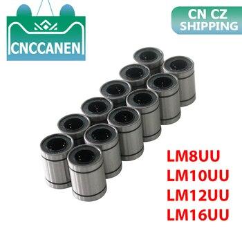 12PCS/LOT LM8UU LM10UU LM12UU LM16UU Linear Bushing 8mm 10mm 12mm CNC Bearings for Rods Liner Rail Shaft Parts - discount item  15% OFF Hardware