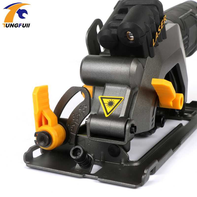 600W DIY Mini Cirkelzaag met Laser Multifunctionele Handheld Elektrische Kettingzaag Draagbare Flip Chip Snijmachine Houtbewerking - 6