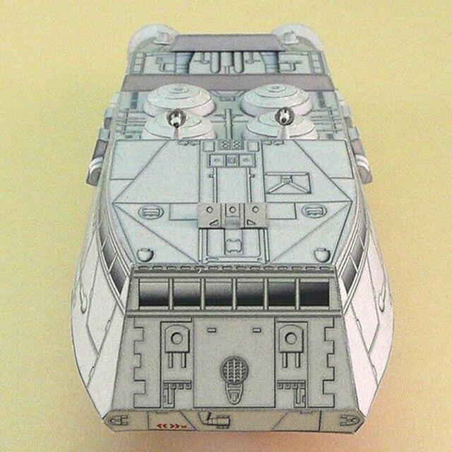 1:120 Scale Battlestar Galactica Colonial Shuttle DIY Handcraft Paper Model Kit 6
