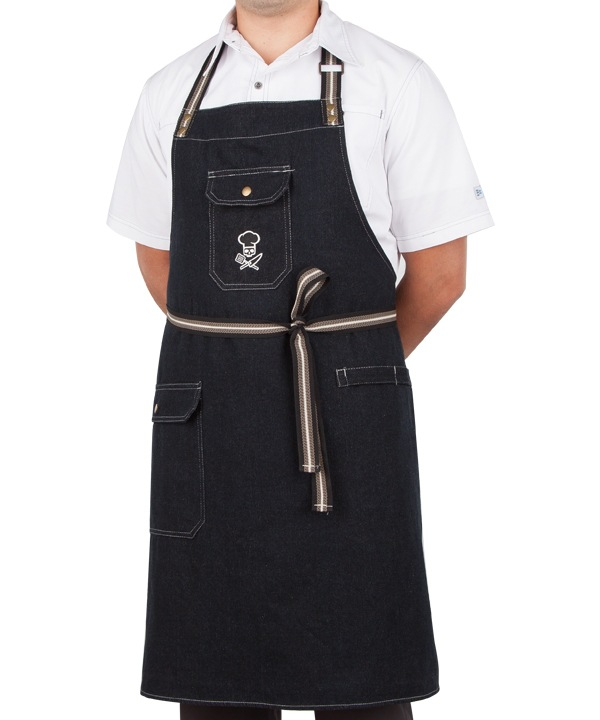 Cowboy Home Kitchen Cooking Work Apron Jean Fabric Wear Resistant Washable Breathable Comfortable|Oversleeves| |  - title=