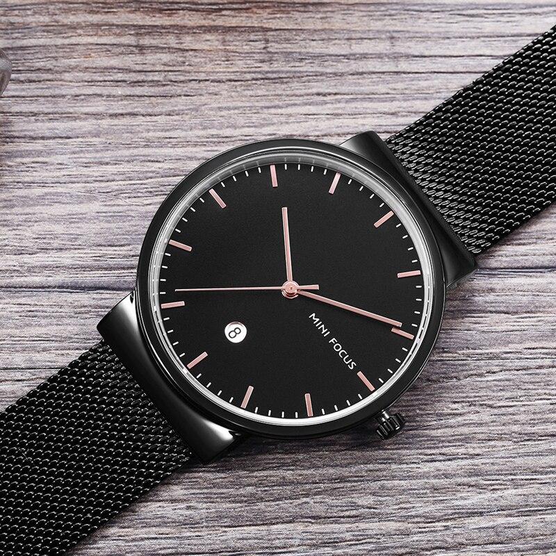 MINIFOCUS étanche hommes montre-bracelet haut marque hommes montres en acier inoxydable Quartz montre mâle horloge Relogio Masculino 2020 nouveau
