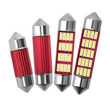 Автомобильная гирлянсветильник C5W C10W 4014 12SMD, автомобильная лампа Canbus, автомобильный внутренний купол, Освещение номерного знака, без ошибок,...
