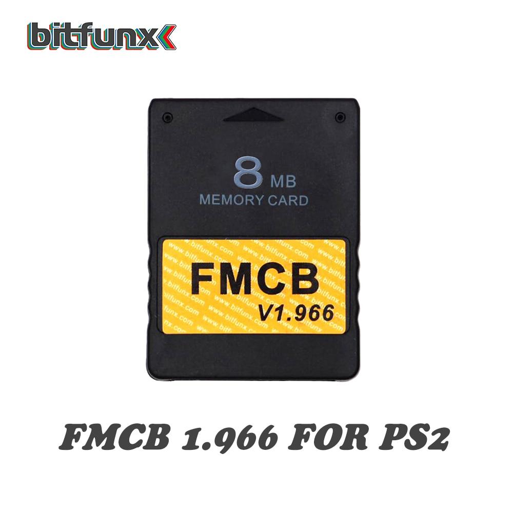 FMCB v1.966 carte mémoire 8/16/32/64 mo pour PS2 + 3.5