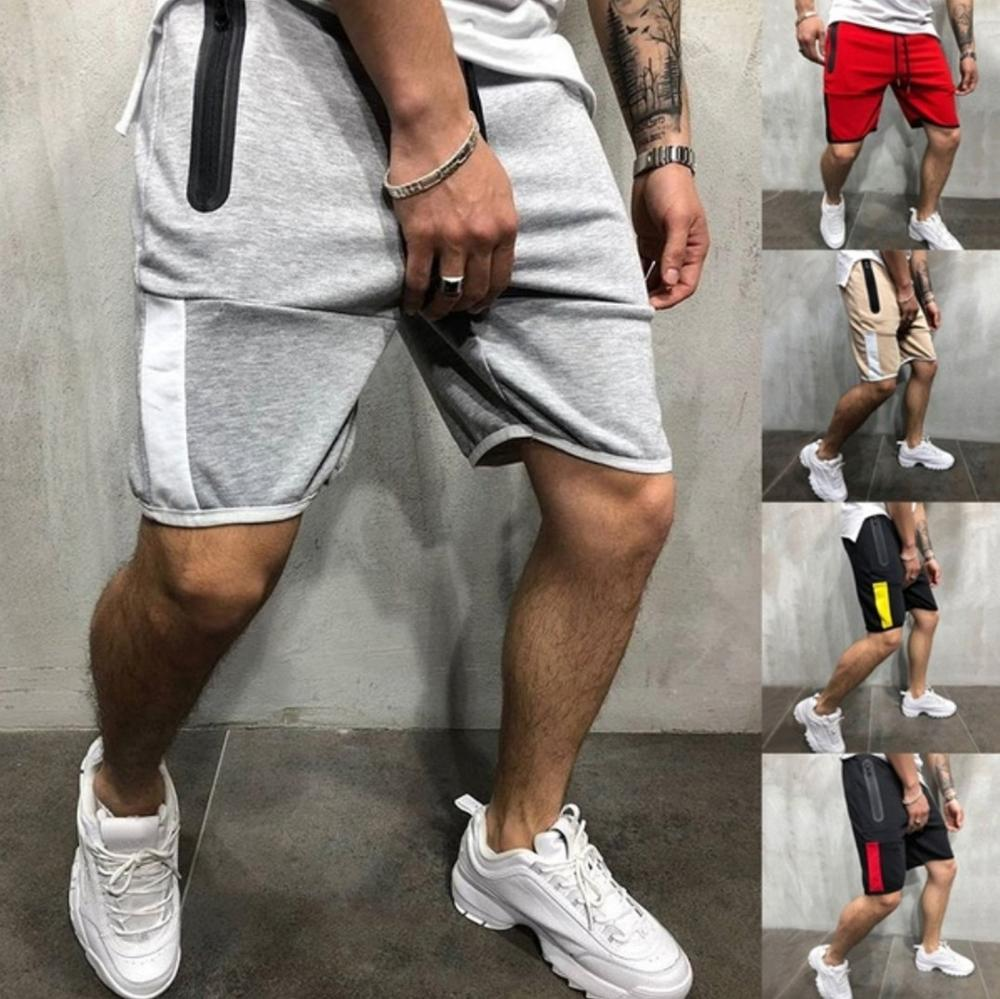 2020 Solid Men's Shorts  Bodybuilding Shorts Man Summer Mens Beach Shorts Cotton Casual Male Shorts Pants Jogger Brand Clothing