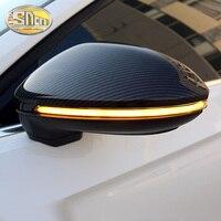 2Pcs For Volkswagen Jetta Golf 7 6 5 GTI Touran Passat B6 B7 B8 CC Scirocco Rear View Mirror Light Flowing LED Turn Signal