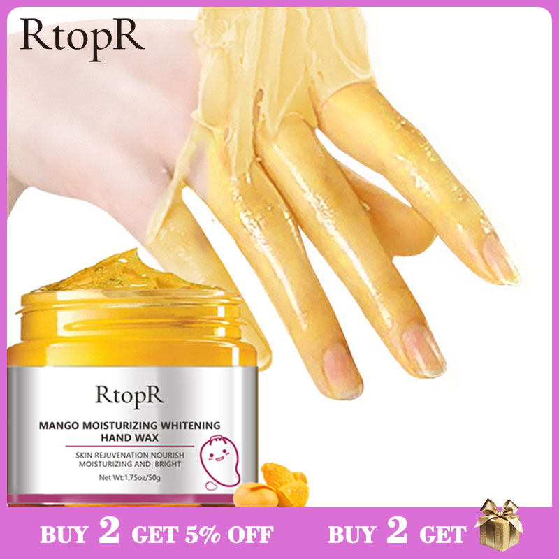 Mango Moisturizing Hand Wax Whitening Skin Hand Mask Repair Exfoliating Calluses Film Anti-Aging Hand Skin Treatment Cream 50g