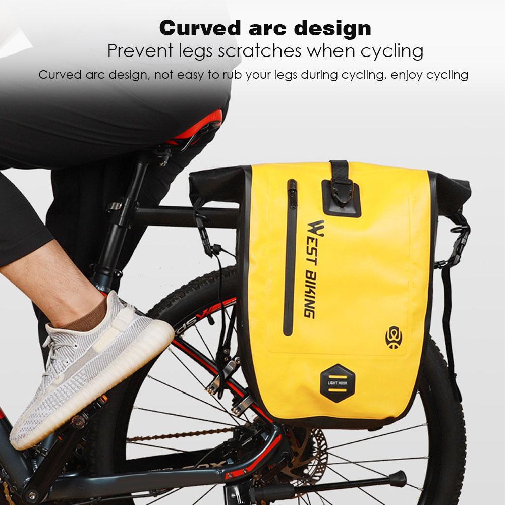 Bicycle Bag 25L Large Capacity Waterproof Bicycle Pan Bag Bicycle Accessories Portable Tailstock Luggage Bag Bicycle Bag Basket