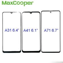 10 sztuk/partia najwyższej jakości dla Samsung A31 A315 A41 A415 A51 A515 A71 A715 przednia zewnętrzna szklana Len Panel dotykowy wymiana