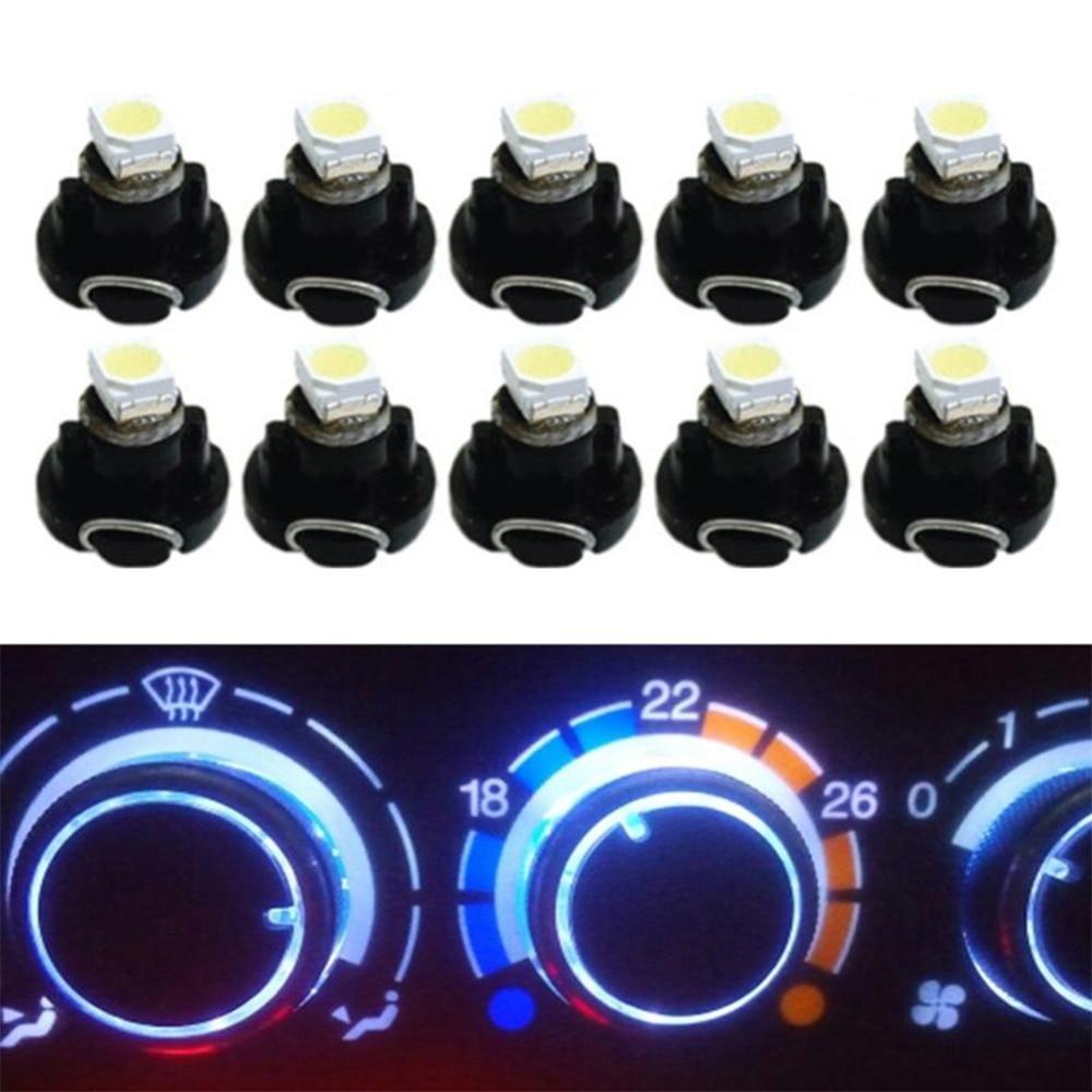 10Pcs T3 LED 12V Auto Auto Innenraum Instrument Glühbirnen Armaturenbrett L