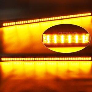 """Image 5 - 12 """"59"""" 180W araba kamyon LED çakarlı lamba Bar itfaiyeci polis yanıp sönen acil uyarı ışıkları kırmızı mavi sarı beyaz yeşil"""
