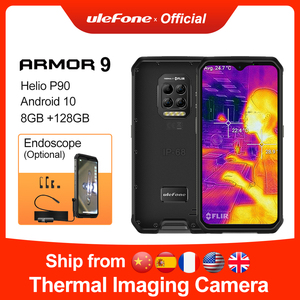 Ulefone Armor 9 Smartphone Thermal Camera Rugged Phone Android 10 Helio P90 Octa-core 8GB+128GB Mobile Phone 6600mAh 64MP Camera