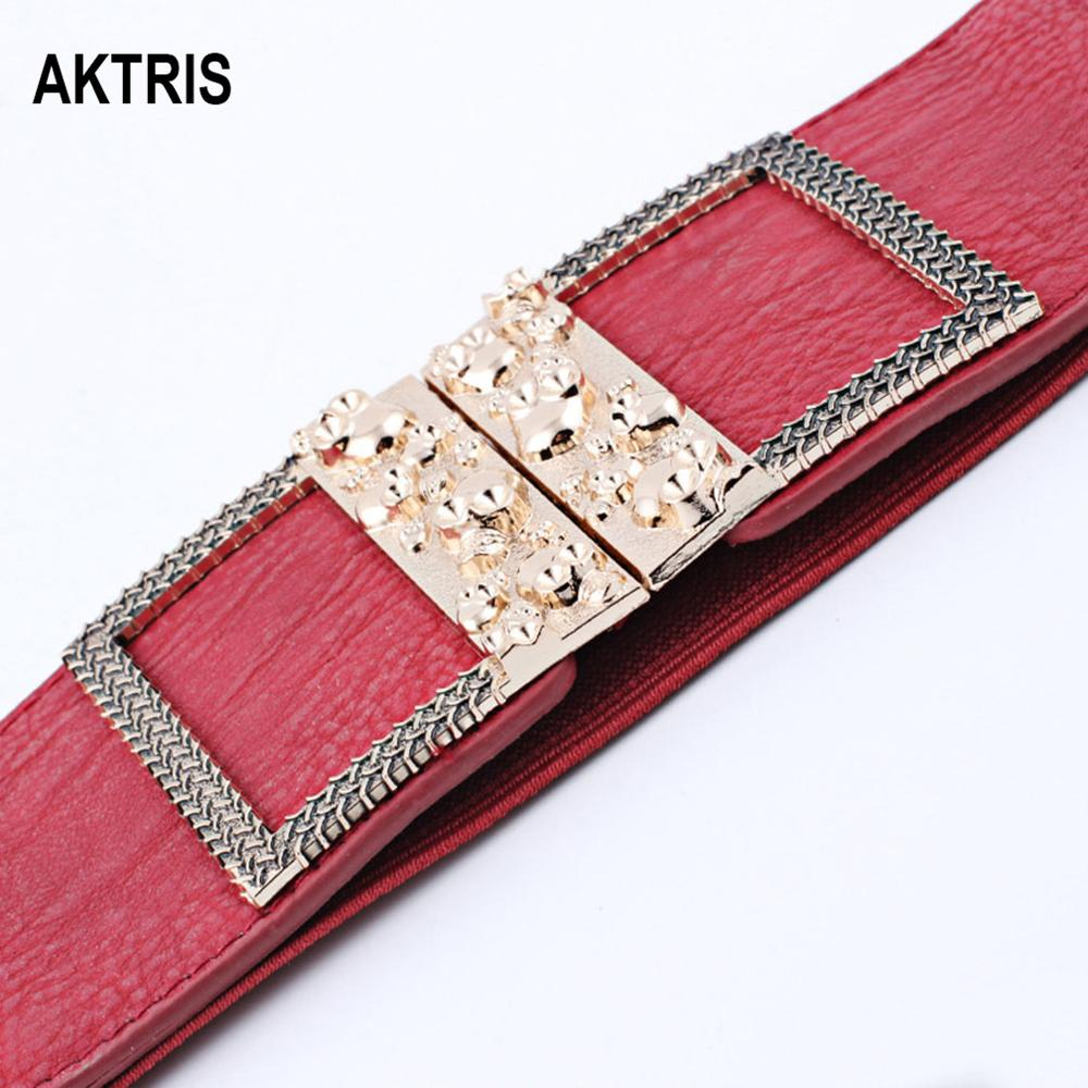 AKTRIS Ladies Tightness Waistband Belts Overcoat Decorative Women's Personality Skull Belt Cummerbund For Women Accessory FCO217