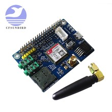 Sim800c gsm gprs módulo quad-band placa de desenvolvimento com antena sma micro sim slot para arduino raspberry pi