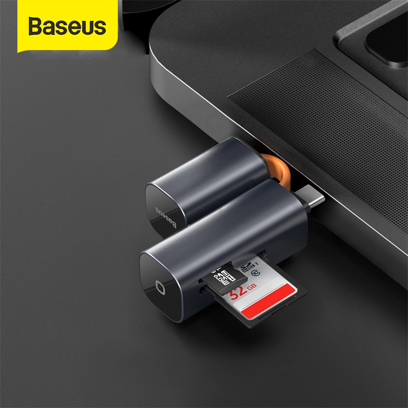 Baseus USB Card Reader USB 3.0 Type C SD Micro SD TF Adapter For Laptop Accessories OTG Cardreader Smart Memory SD Card Reader