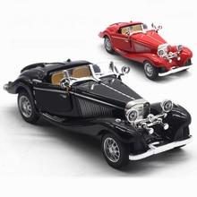 1:28 Children Alloy Pull Back Car Toys Retro Convertible Car