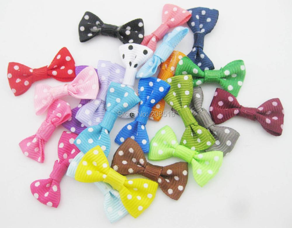 FZNNWE 100 шт маленький размер корсажная лента бабочка в горошек разноцветные DIY Швейные принадлежности ручной работы банты для волос Детские