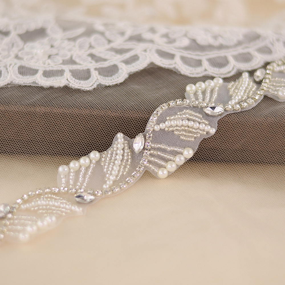 TRiXY S273 Handmade Rhinestone Pearls Beaded Wedding Belts Crystal Rhinestone Bridal Belt Bridal Sash Wedding Dress Accessories
