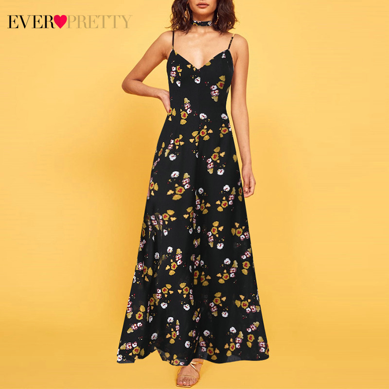 Elegant Lace Evening Dresses Long Ever Pretty EP08715BK O-Neck Sleeveless Cheap Formal Evening Party Gowns Lange Jurken 2020
