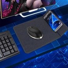 10 Вт Qi Беспроводное зарядное устройство коврик для мыши для iPhone 11 Pro Xs Max X 8 samsung S10 S9 S8 Plus S7 Note 9 быстрый беспроводной зарядный коврик для мыши