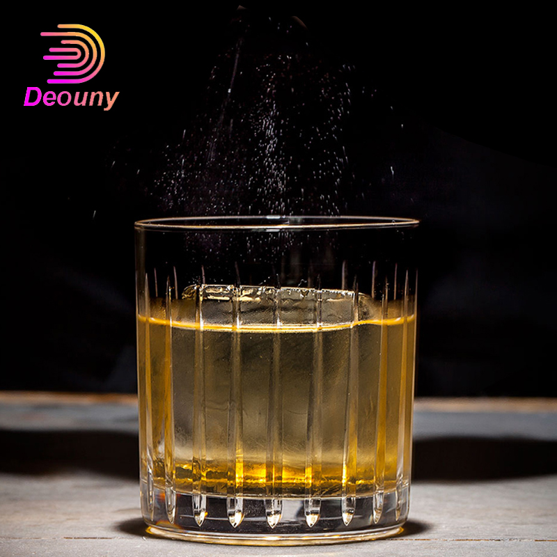 DEOUNY Lead-Free Whiskey Glass Engraved Old Fashion Big Ice Hockey Classic Vodka Cocktail Wine Glass Mixology Bar Accessories image