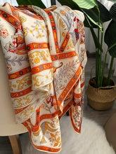 Twill di Cachemire Sciarpa Di Seta Delle Donne di Marca di Lusso 140*140 centimetri Sqaure Morbido Stampato Testa Femme Signore di Modo 100% Reale sciarpa di seta