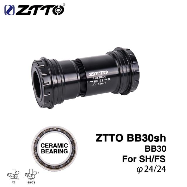 BB30sh Bottom Brackets BB30 24mm Adapter Press Fit Axle Fit For MTB Road Bike