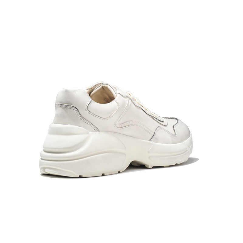 Thương Hiệu Hàng Đầu Nam Giày Hip Hop Dày Nền Tảng Giày Dép Phối Ren Huấn Luyện Tập Luyện Giày Tenis Da Sapato Masculino