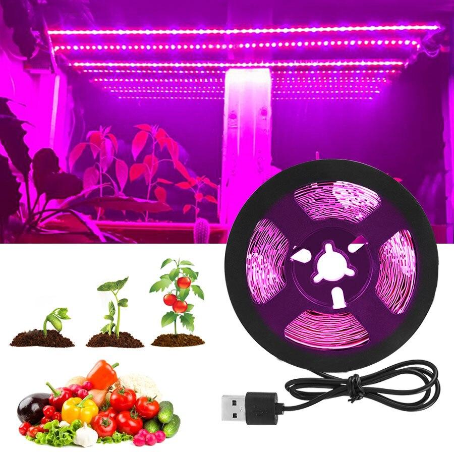 DC 5V USB LED Grow Light Strip Lamp Full Spectrum Fitolampy For Vegetable Flower Seedling Plant Light Tent Growing Phyto Lamps(China)