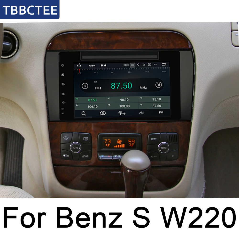 Para Mercedes Benz Clase S W220 1995 ~ 2005 NTG reproductor Multimedia Android auto Radio estéreo navegación GPS BT wifi la Radio del coche ESTÉREO