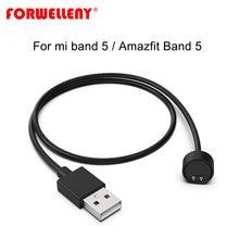 Forwelleny USB зарядное устройство для Xiaomi Mi Band 5 / amazfit band 5 зарядный кабель NFC глобальная Версия портативный браслет адаптер
