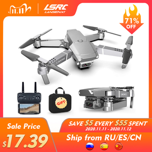 LSRC New E68pro Mini Drone Wide Angle 4K 1080P WiFi FPV Camera Drones Height Hold Mode RC Foldable Quadcopter Dron Boy Toy Gift